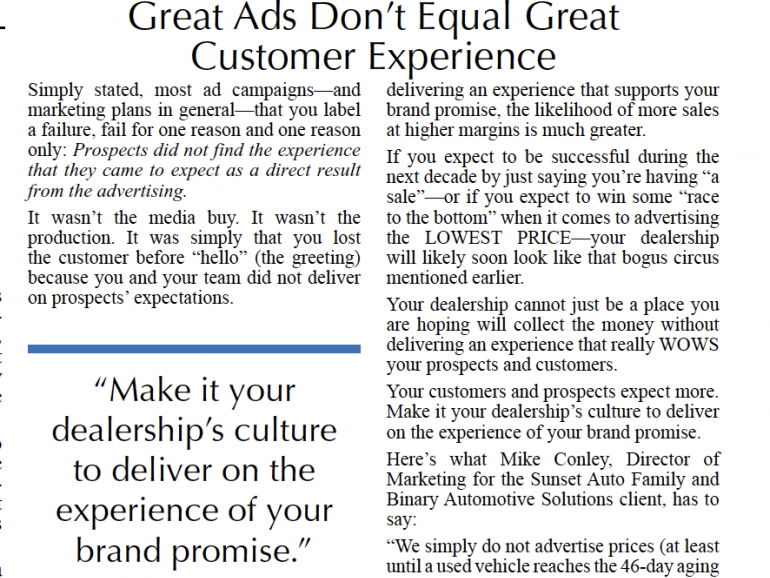 Great Ads Don't Equal Great Customer Experience